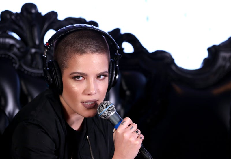 halsey with buzz cut