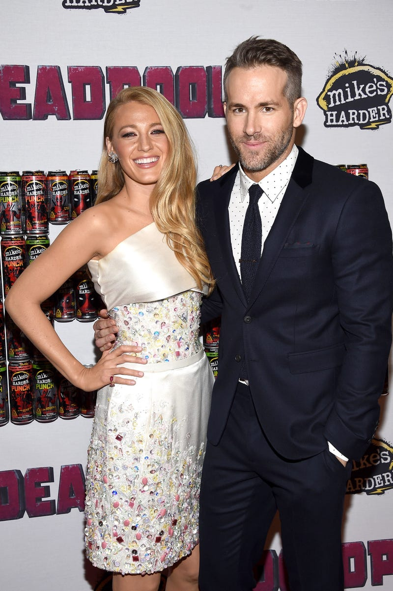 blake lively and ryan reynolds at deadpool event in 2016
