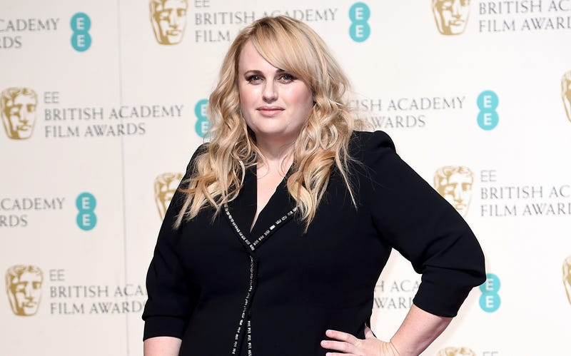 Rebel Wilson poses in the winners room at the EE British Academy Film Awards