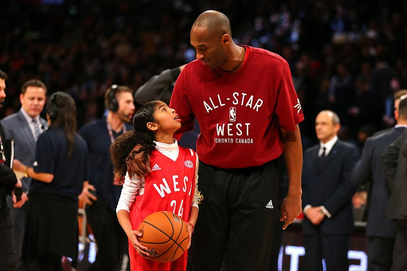 gianna and kobe bryant at nba all-star game 2016