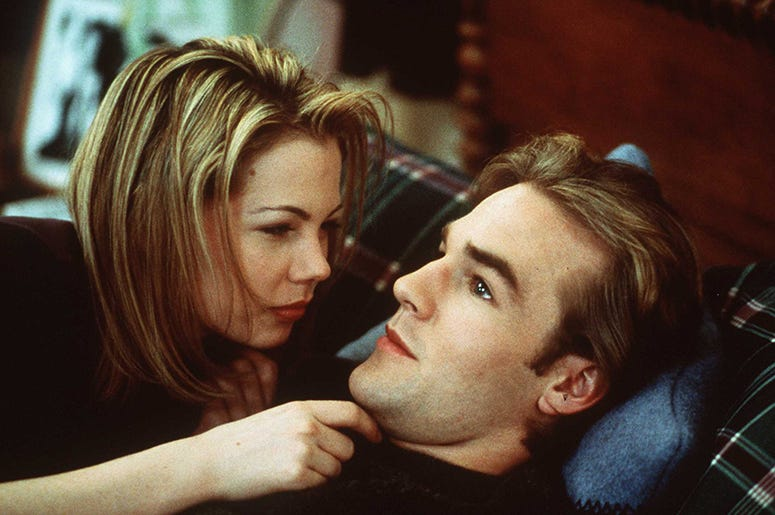 Michelle Williams and James Van Der Beek of 'Dawson's Creek'