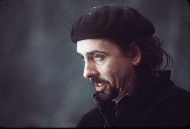 tim burton on set of sleepy hollow