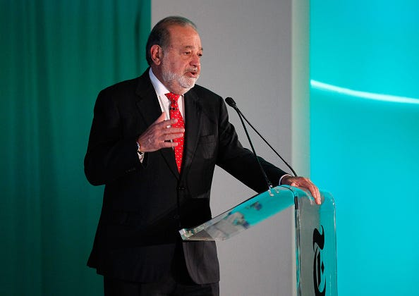 Carlos Slim Helu, Chairman of Grupo Carso, speaks onstage at The New York Times New Work Summit on February 29, 2016 in Half Moon Bay, California.