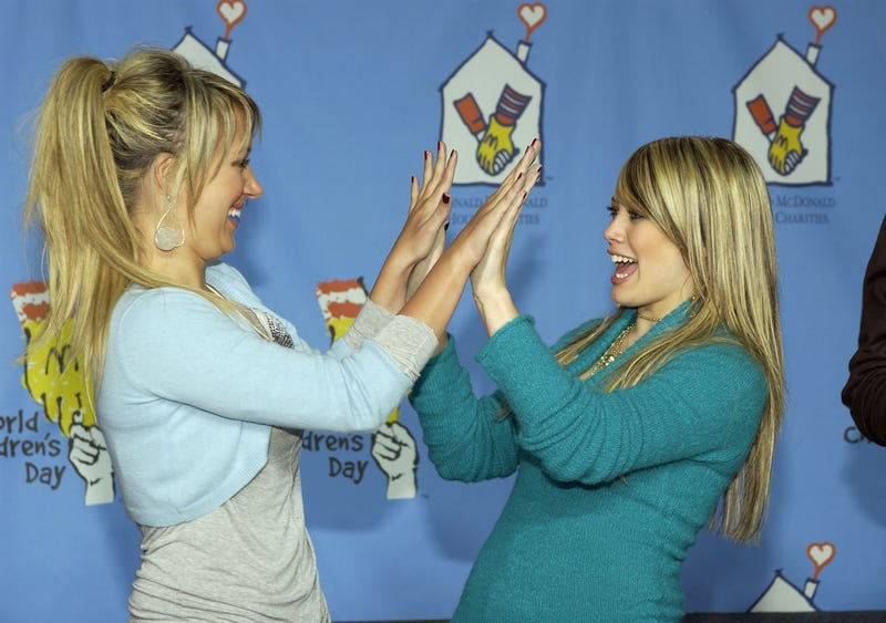 Ashley Tisdale and Hilary Duff