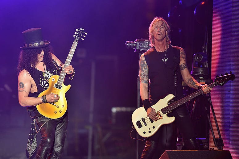 Slash and Duff McKagan of Guns N' Roses
