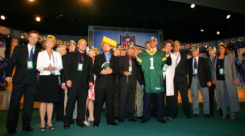Green Bay Packers select quarterback Aaron Rodgers during the 2005 NFL Draft.