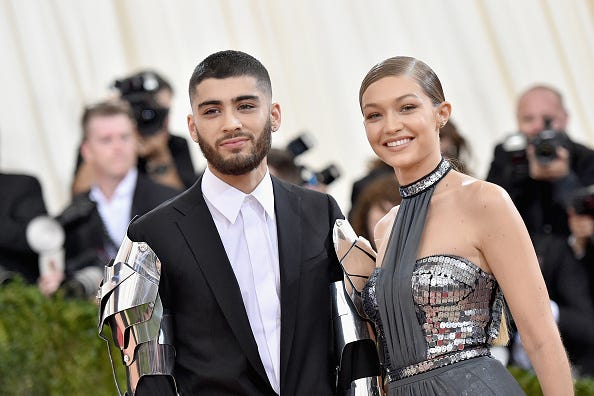 Zayn and Gigi stun at the Costume Institute Gala.