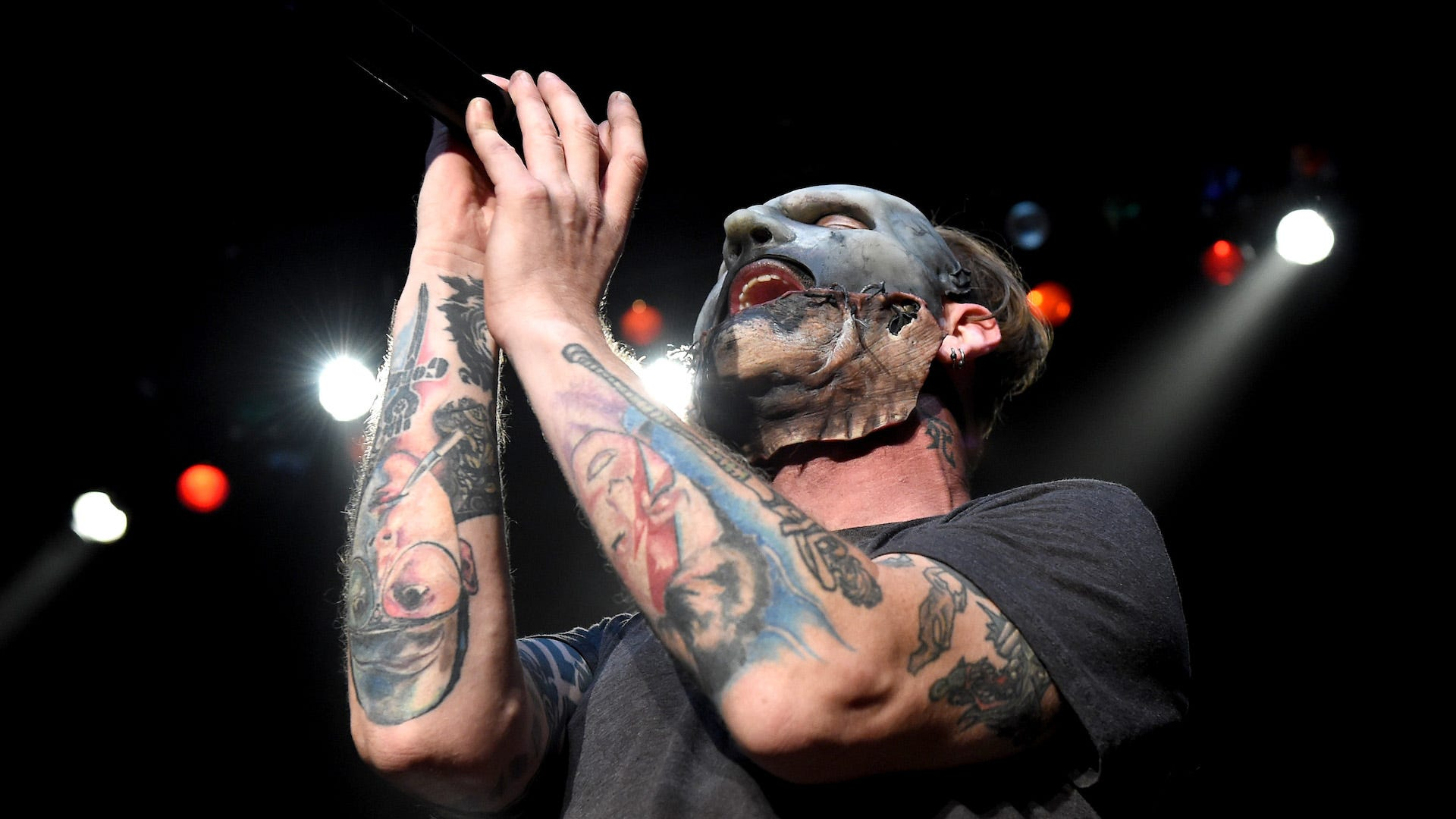 Slipknot's Corey Taylor shows off his most 'disturbing' mask yet