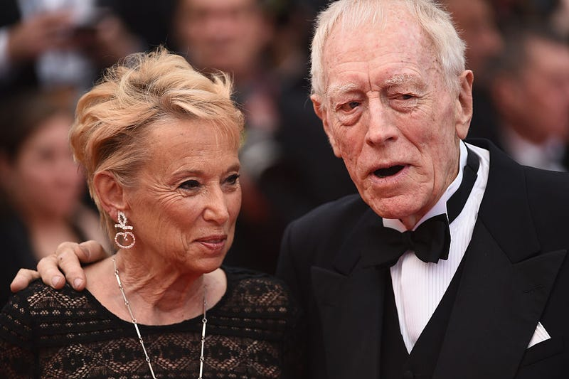 max von sydow and wife catherine brelet von sydow at 69th Annual Cannes Film Festival