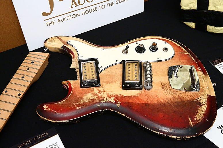 Kurt Cobain's Univox electric guitar