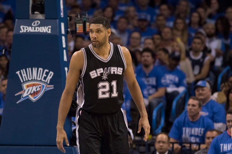 Tim Duncan manning the low post for San Antonio