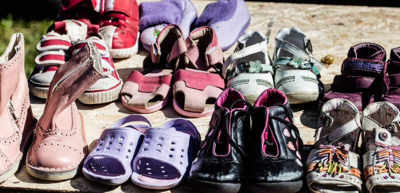 used child and baby shoes for reusing