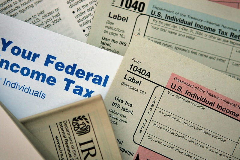 Federal tax forms.