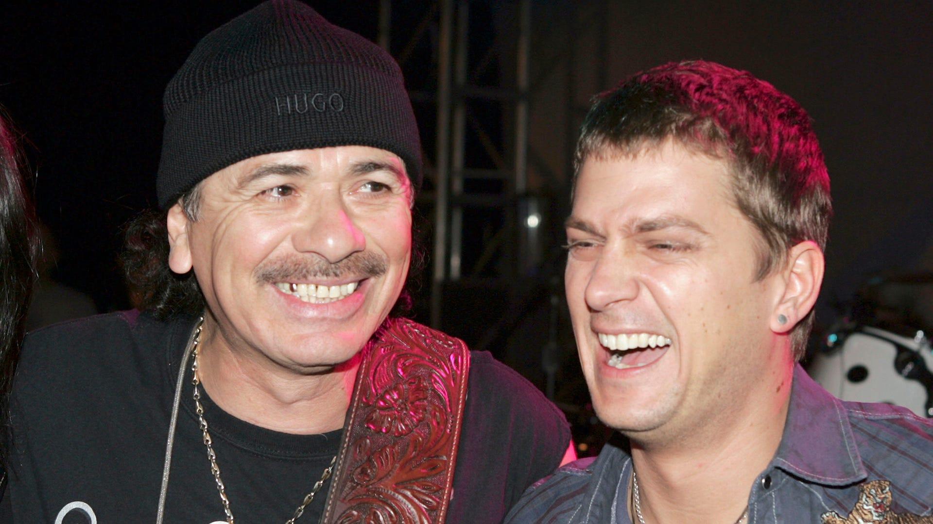 It's a hot one: Rob Thomas reunites with Carlos Santana after 22 years
