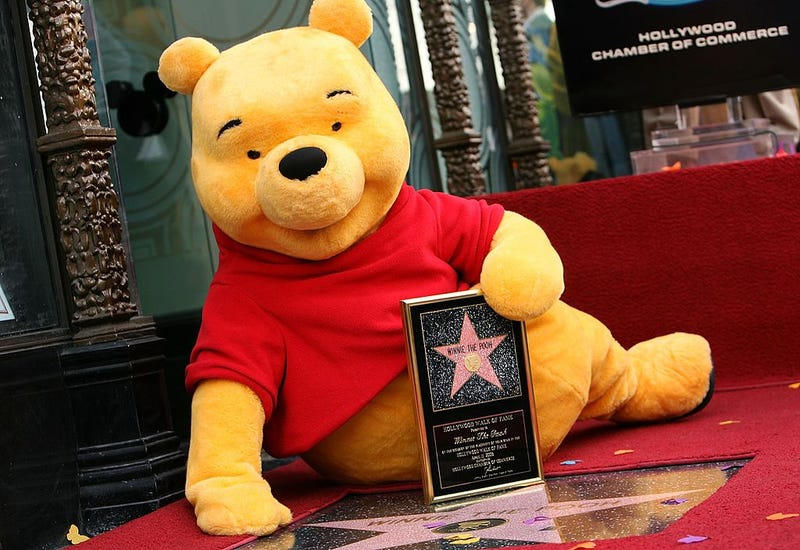Winnie The Pooh receives a star on the Hollywood Walk of Fame in front of the El Capitan Theatre on April 11, 2006 in Los Angeles, California
