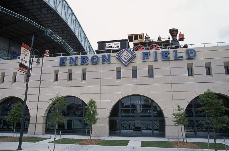 Enron Field was renamed after two seasons.