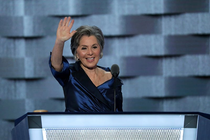 Barbara Boxer (D-CA) delivers remarks on the second day of the Democratic National Convention at the Wells Fargo Center, July 26, 2016 in Philadelphia, Pennsylvania.