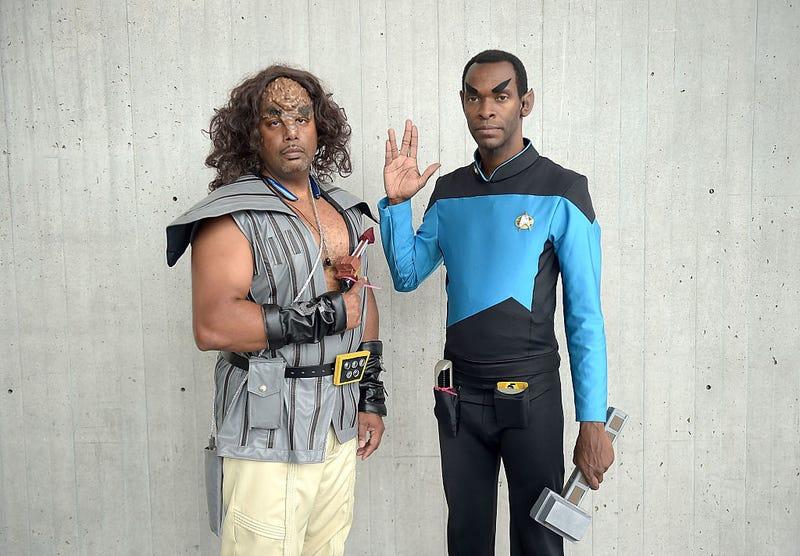 Star Trek fans are seen during the Star Trek: Mission New York event at Javits Center on September 3, 2016 in New York City.