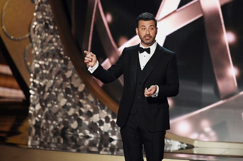 Jimmy Kimmel hosting the Emmys in 2016