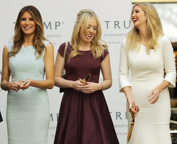 Melania, Tiffany and Ivanka Trump