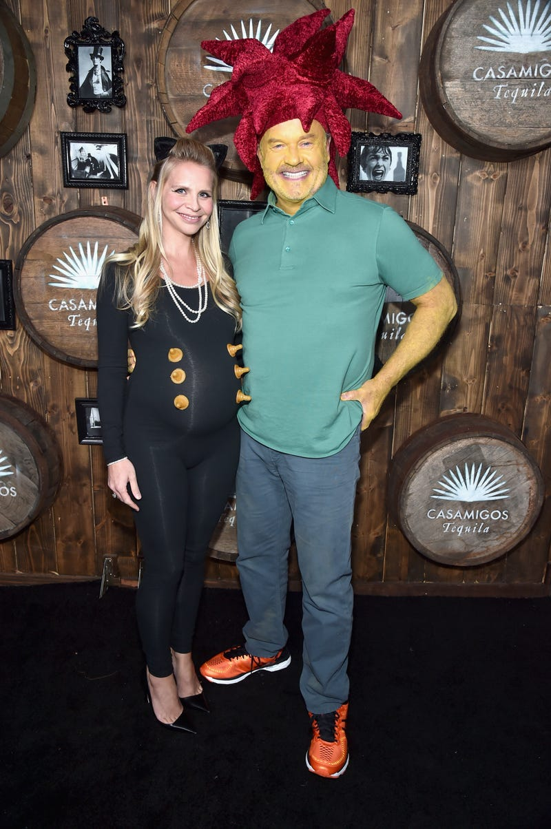 kelsey grammer as sideshow bob with wife kayte walsh for halloween 2016
