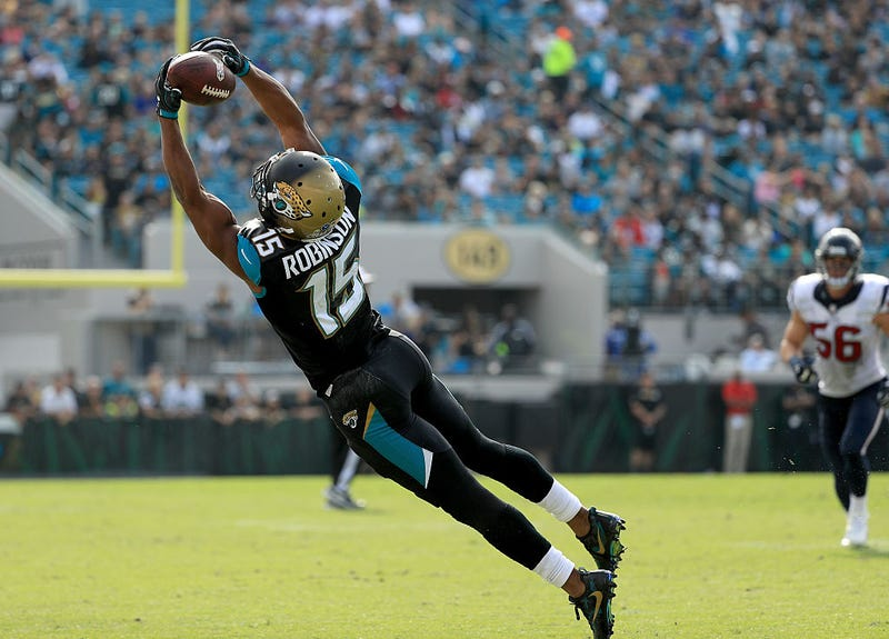 Allen Robinson extends for a great catch in his days with the Jaguars.