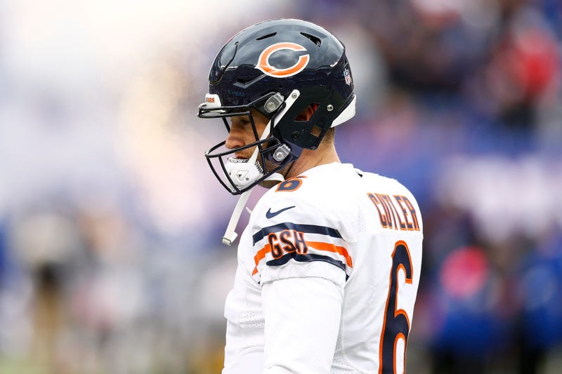 Jay Cutler during a game at MetLife Stadium in 2016