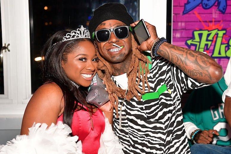 Lil Wayne and Reginae Carter