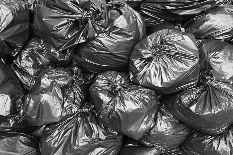 Trash bags stock photo.