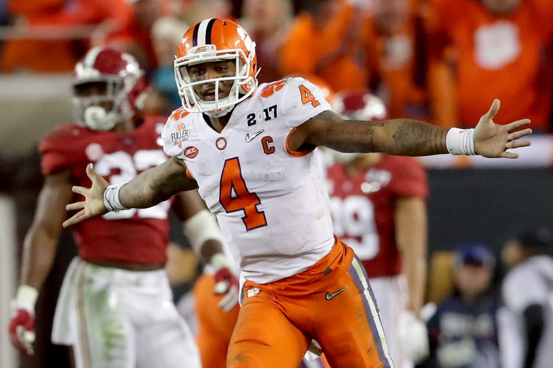 Deshaun Watson celebrates after a touchdown in the 2017 National Championship