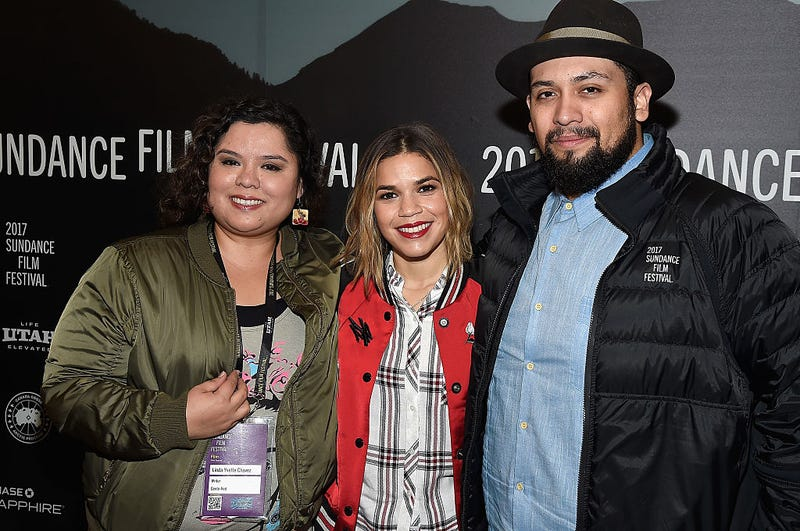 "Linda Yvette Chávez, America Fererra and director Marvin Bryan Lemus attend the ""GENTE-FIED"" Premiere at Egyptian Theatre on January 23, 2017 in Park City, Utah."