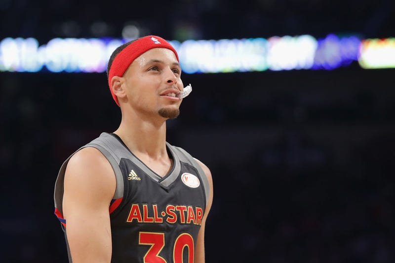 Steph Curry at the 2017 NBA All-Star Game