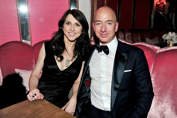 CEO of Amazon Jeff Bezos and writer MacKenzie Bezos