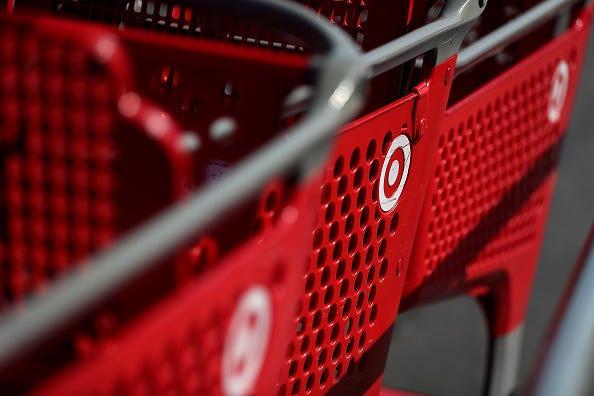 Target carts.