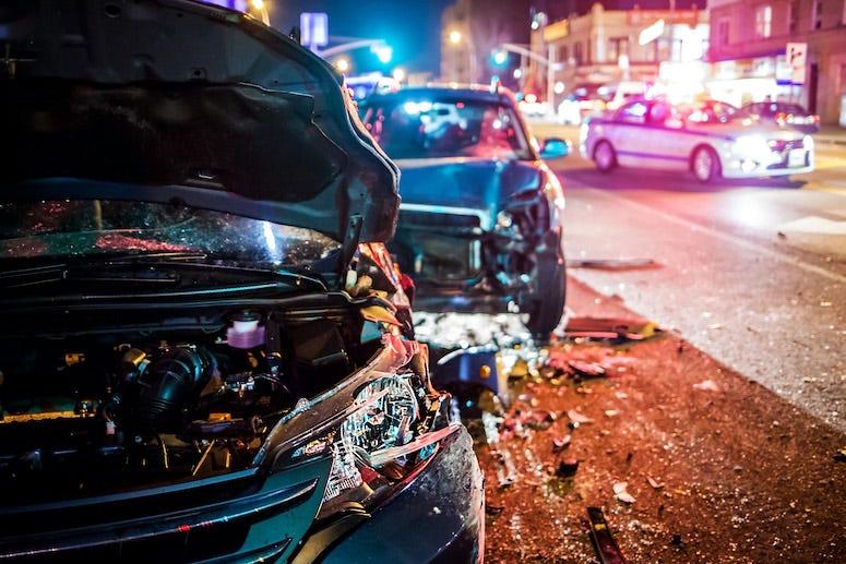Car crash, Night
