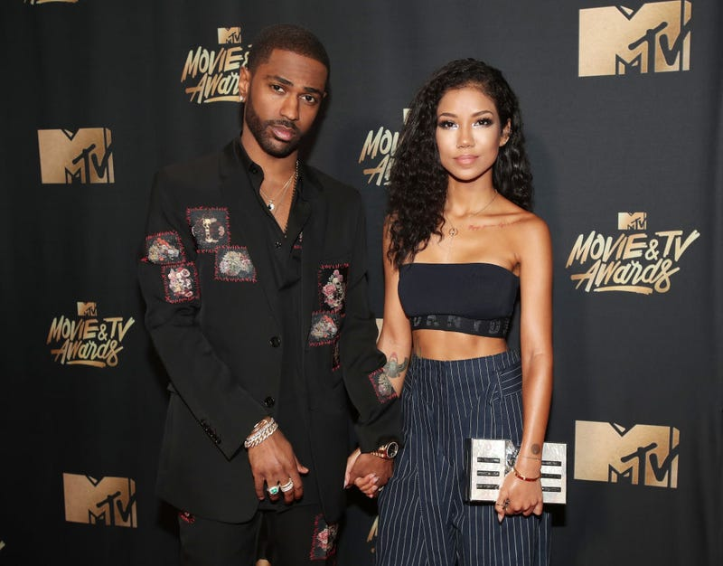 Recording artists Big Sean and Jhene Aiko attend the 2017 MTV Movie And TV Awards at The Shrine Auditorium on May 7, 2017 in Los Angeles, California. (Photo by Christopher Polk