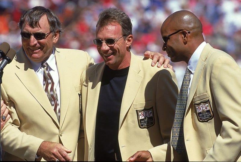 Dave Wilcox with Joe Montana and Ronnie Lott