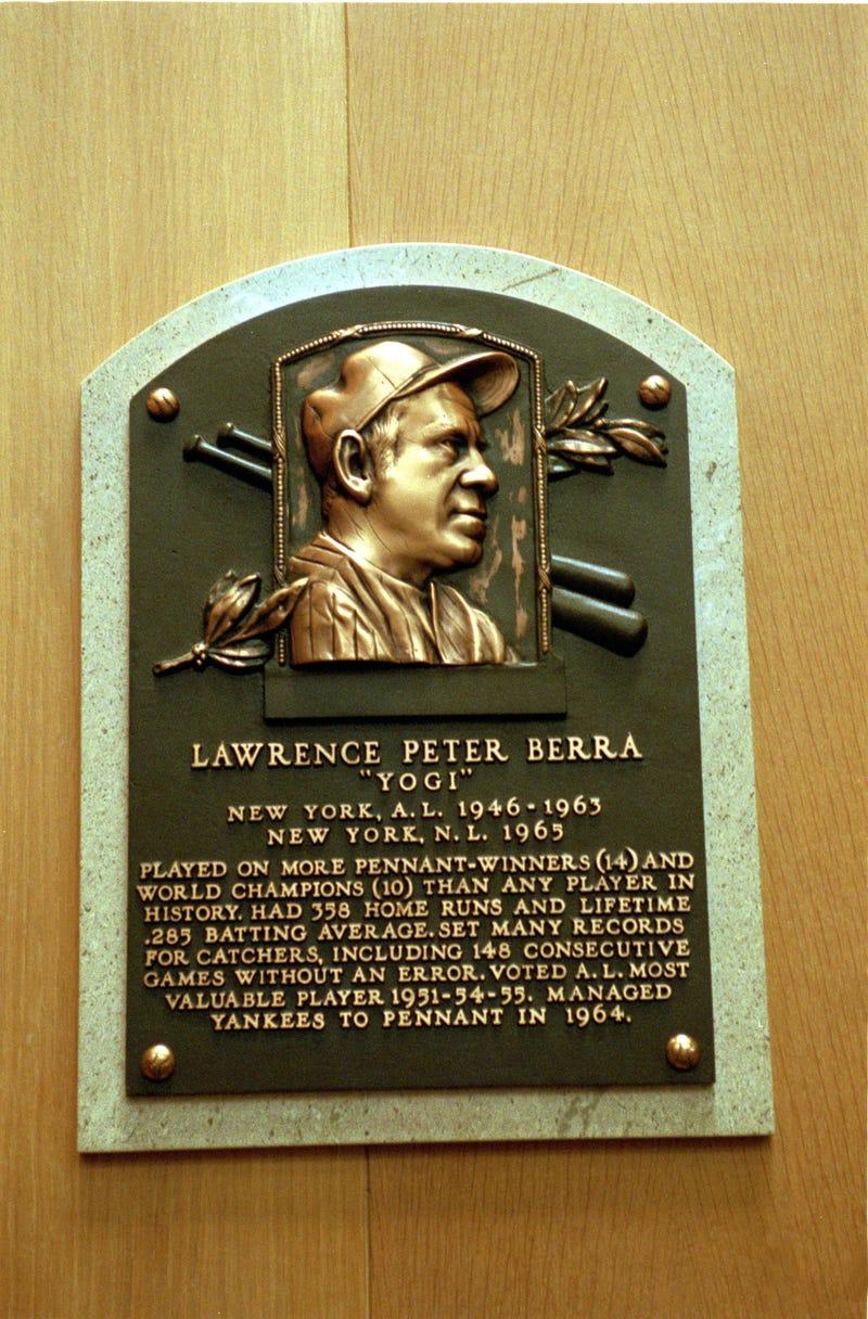 Yogi Berra Hall of Fame plaque