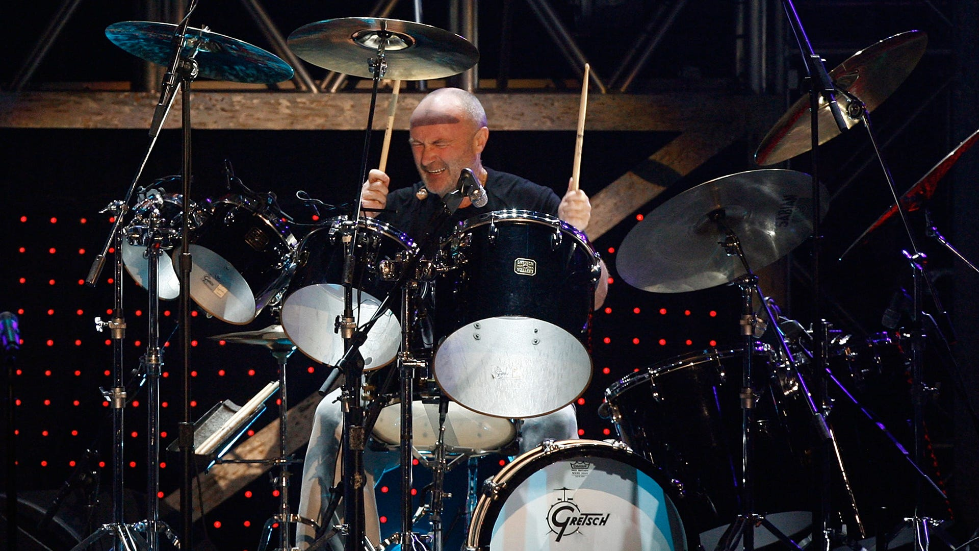 Phil Collins admits 'I can barely hold a stick' in health update