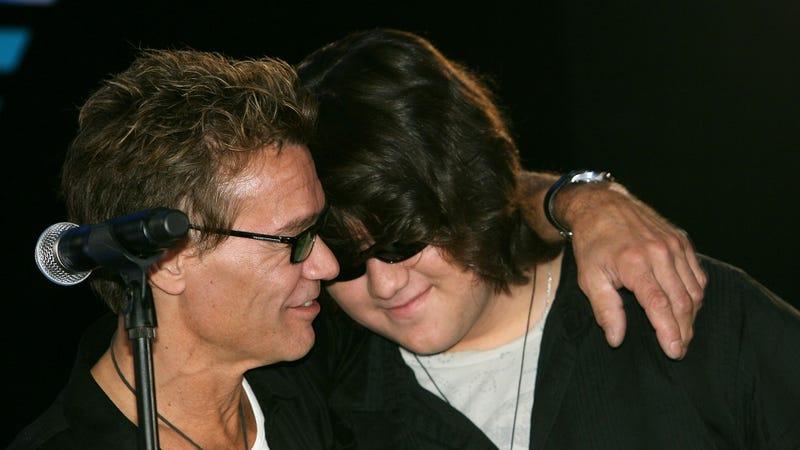 The late Eddie Van Halen and son Wolfgang Van Halen