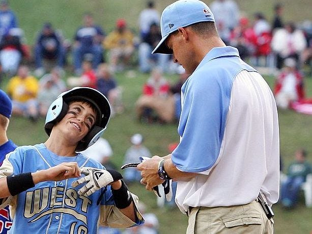 Cody and Clay Bellinger at the Little League World Series