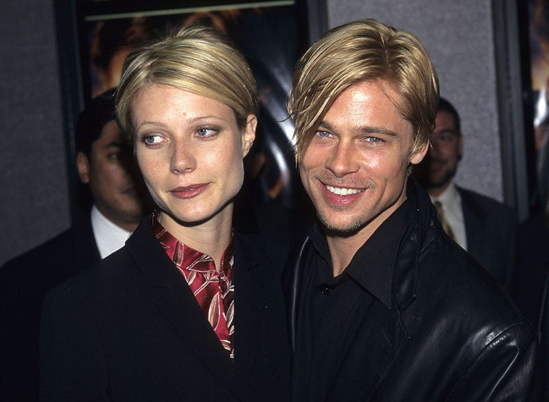 """Gwyneth Paltrow and Brad Pitt at """"The Devil's Own"""" Premiere"""