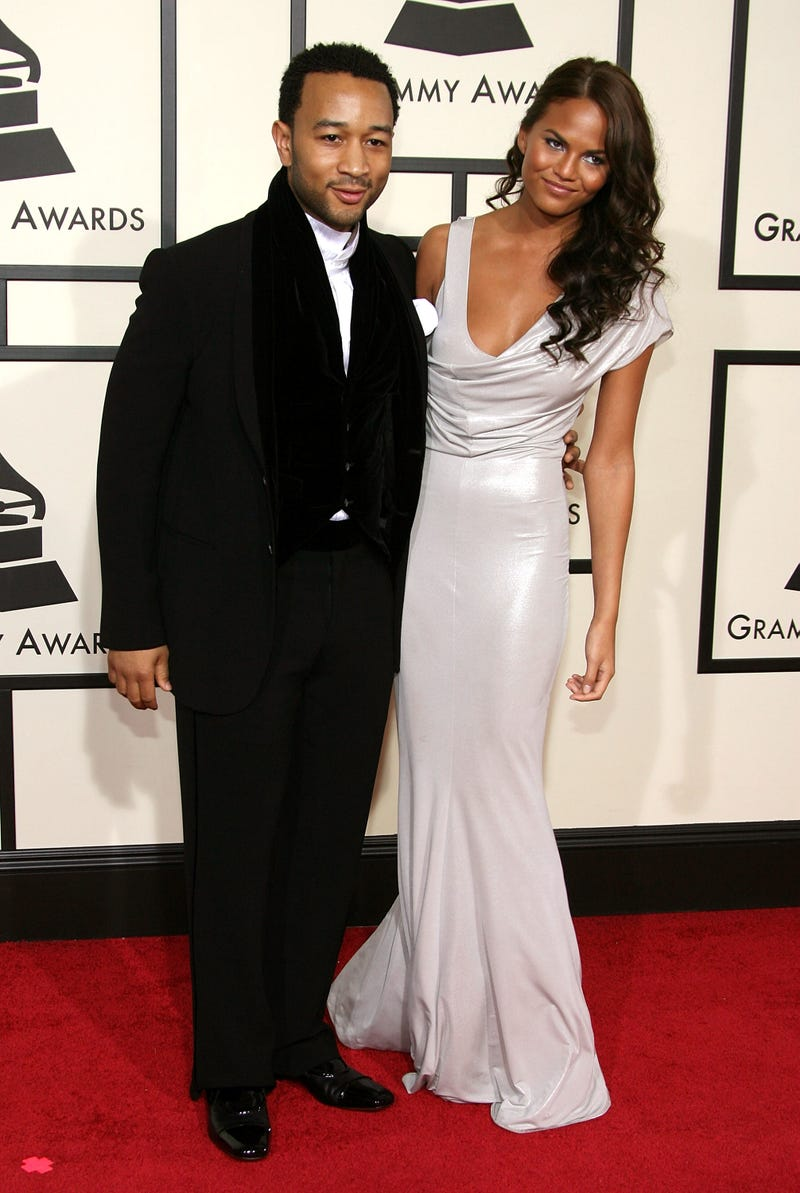 john legend and chrissy teigen at the 2008 grammys