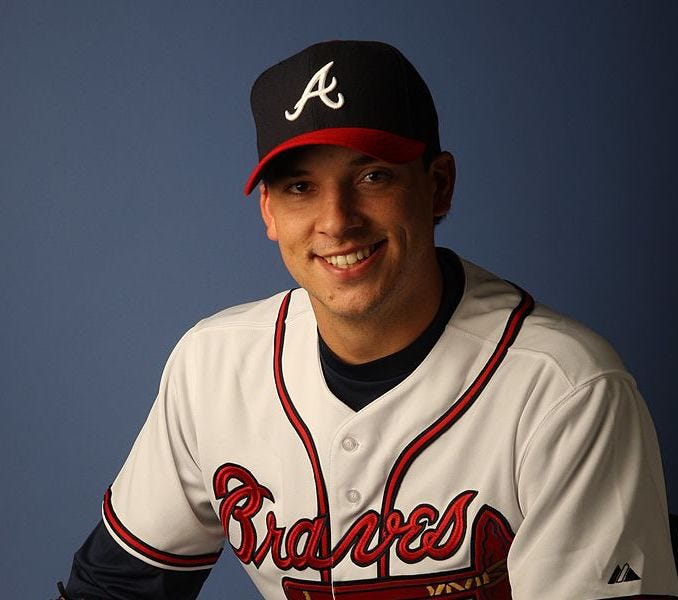 Charlie Morton pictured during Atlanta Braves Photo Day in February of 2008.