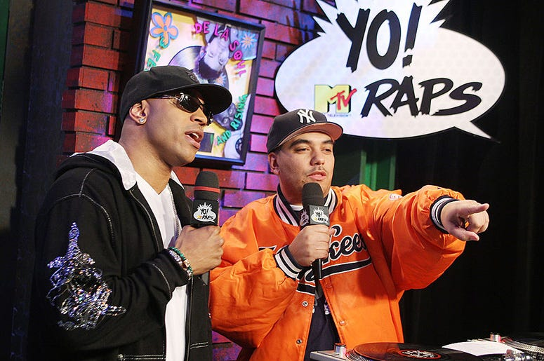 Rapper LL Cool J and Yo! MTV Raps host Cipha Sounds