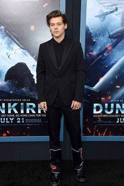 harry styles at dunkirk premiere in new york