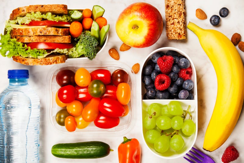 healthy school snacks beautifully laid out