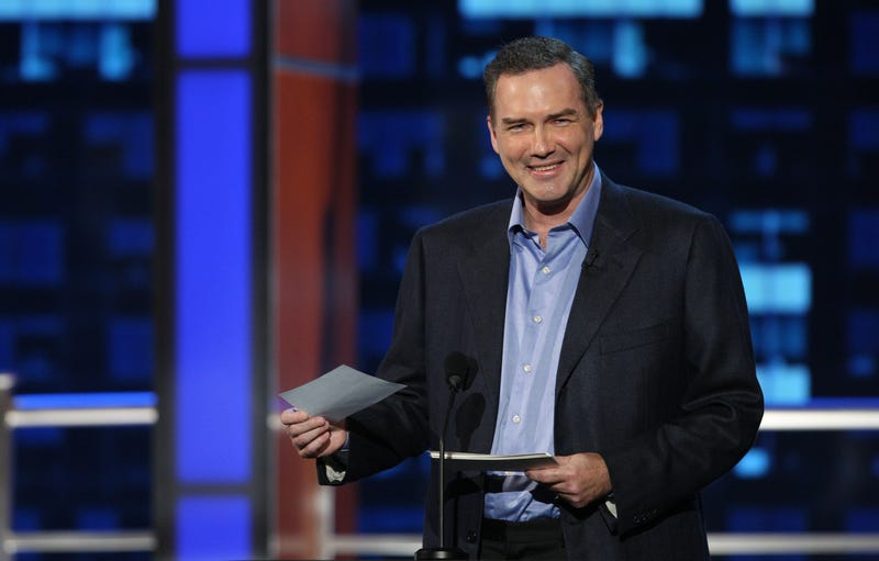 """Comedian Norm Macdonald on stage at the """"Comedy Central Roast Of Bob Saget"""" on the Warner Brothers Lot on August 3, 2008 in Burbank, California."""