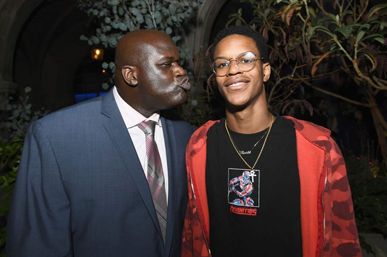 Shaquille O'Neal and son Shareef O'Neal