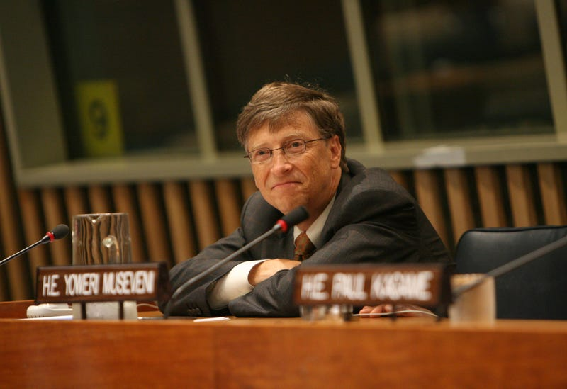 bill gates with satisfied smirk
